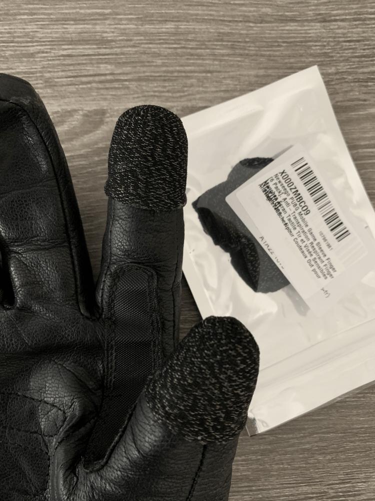 Handschuhe mit Fingerhülsen